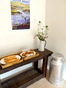 Table adorned with luxury, local breakfast produce