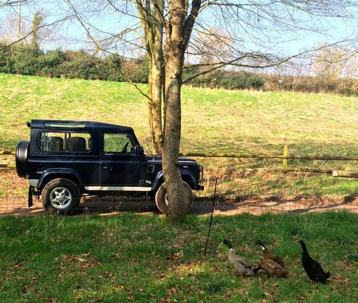 The Land Rover at Brownscombe Luxury Glamping in Devon