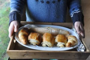 Croissants from the Brownscombe larder in Devon