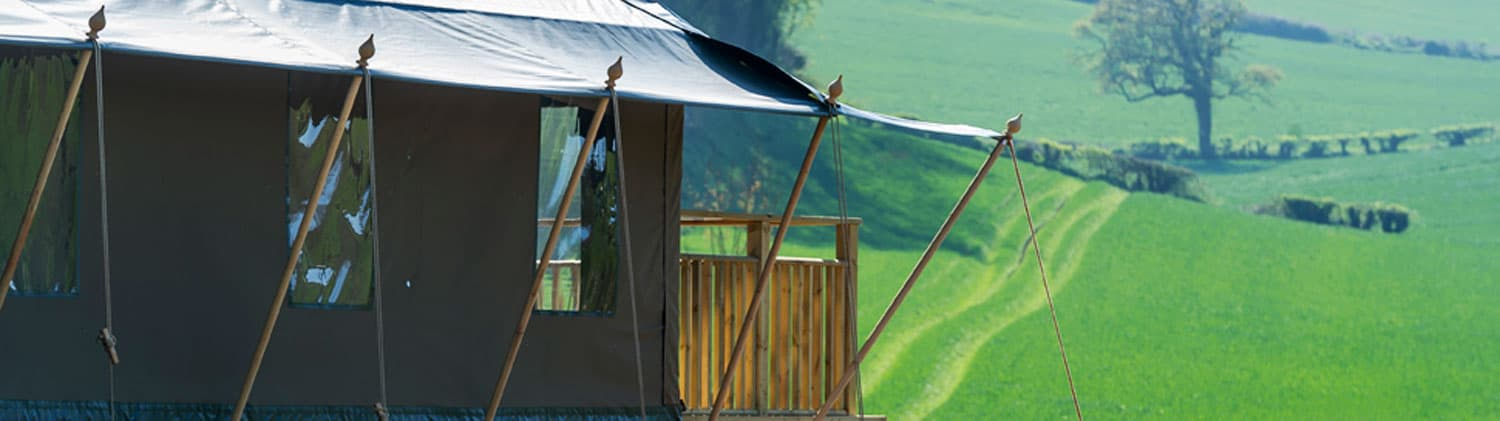 View from a safari tent at Brownscombe Luxury Gl&ing in Devon & Brownscombe Luxury Glamping u2013 Luxury glamping holidays in Devon