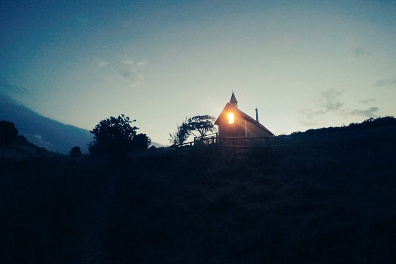 Tabernacle at dusk