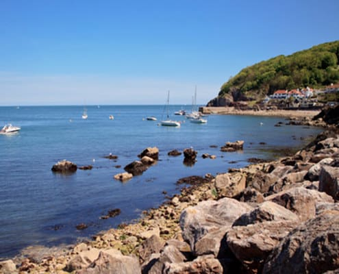 Babbacombe Beach near Brownscome Luxury Glamping in Devon