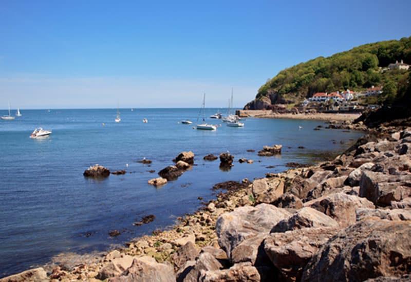 Babbacombe Beach near Brownscome Luxury Glamping in Devon