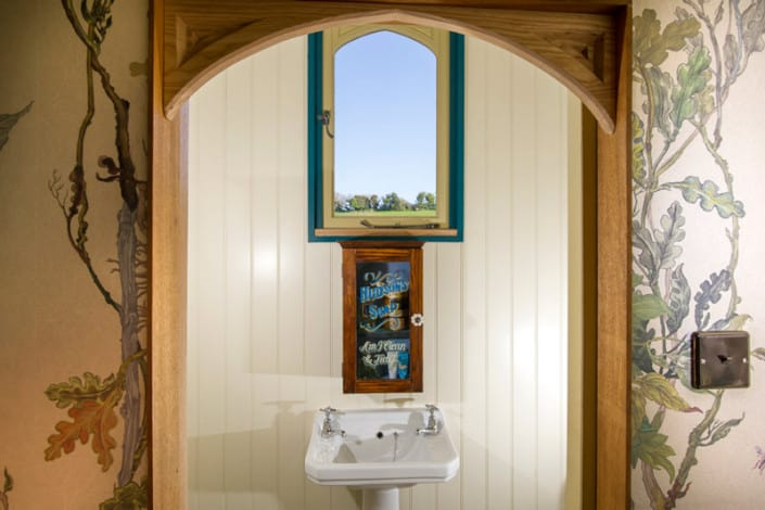 The view out of one of the windows of the Cornish Tabernacle at Brownscombe, offering luxury glamping for couples