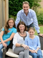 Kate Tregoning and family at Brownscombe Luxury Glamping
