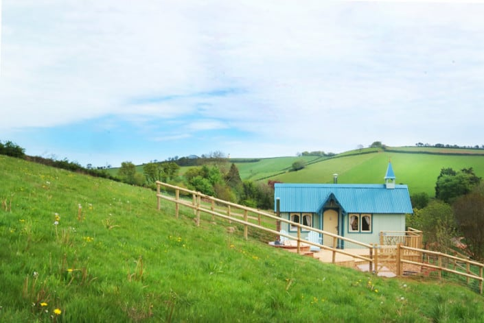 Brownscombe Tabernacle sitting on the hillside, totally enclosed, peaceful and private