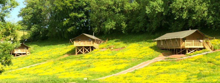 Brownscombe's three safari tents can sleep up to 20 people, making them a great choice for families and groups
