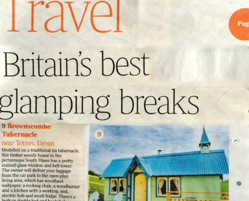 A picture of the Brownscombe Tabernacle in The Times' best glamping breaks 2015 feature