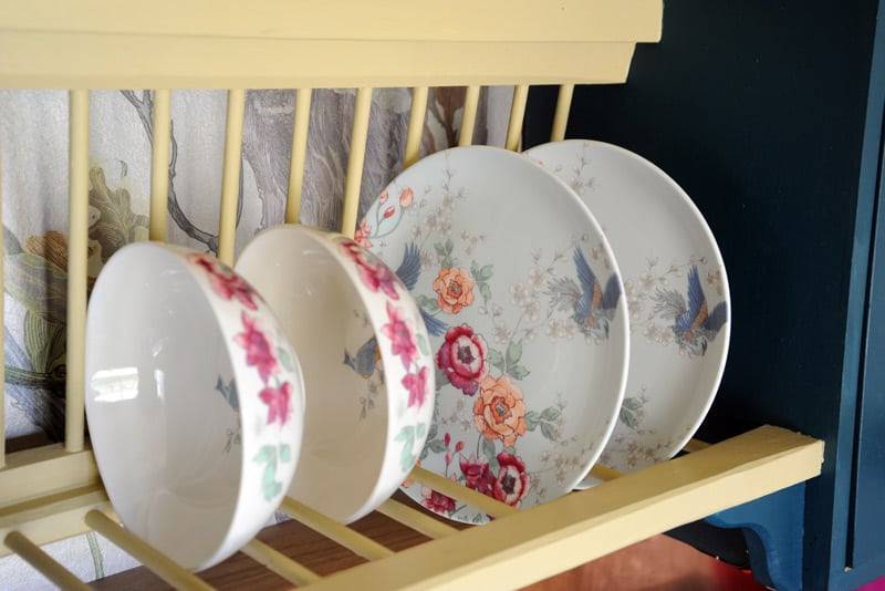 Quirky plates to match Brownscombe's quirky interiors