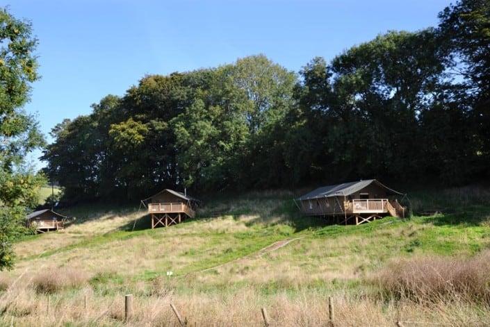 Safari tents at Brownscombe