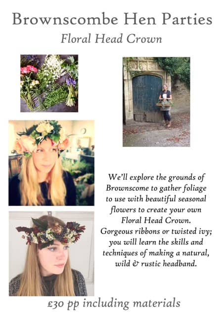 Floral head crown workshops at Brownscombe Luxury Glamping UK